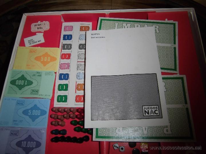 Juegos de mesa: JUEGO DE MESA NAC - MAFIA - 1982 - Foto 16 - 41430858