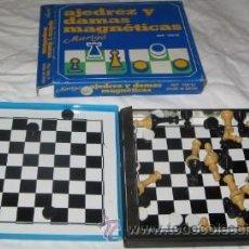 Juegos de mesa: JUEGO MAGNÉTICO MARIGÓ, AJEDREZ Y DAMAS. Lote 41441902