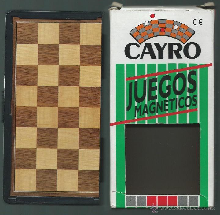 JUEGO DE AJEDREZ MAGNETICO *CAYRO* CON CAJA - COMPLETO (Juguetes - Juegos - Juegos de Mesa)
