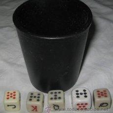 Juegos de mesa: CUBILETE Y DADOS. Lote 41742771