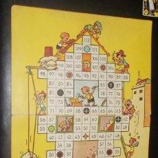 Juegos de mesa: TABLERO DE CARTON DE EL JUEGO DE LAS CONSTRUCCIONES. GEYPER.. Lote 41767243
