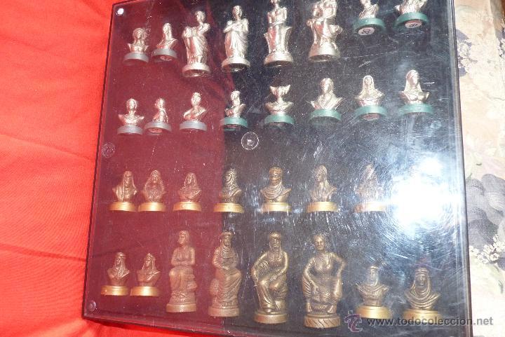 Juegos de mesa: PRECIOSO AJEDREZ FIGURAS HISTÓRICAS - Foto 2 - 42370936
