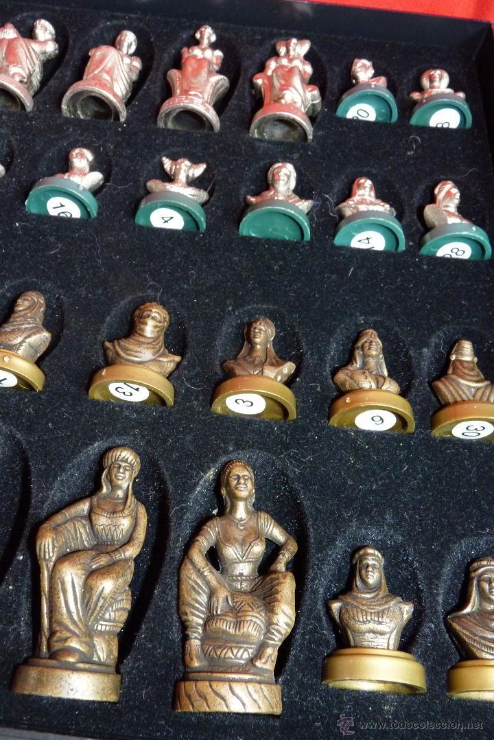 Juegos de mesa: PRECIOSO AJEDREZ FIGURAS HISTÓRICAS - Foto 5 - 42370936