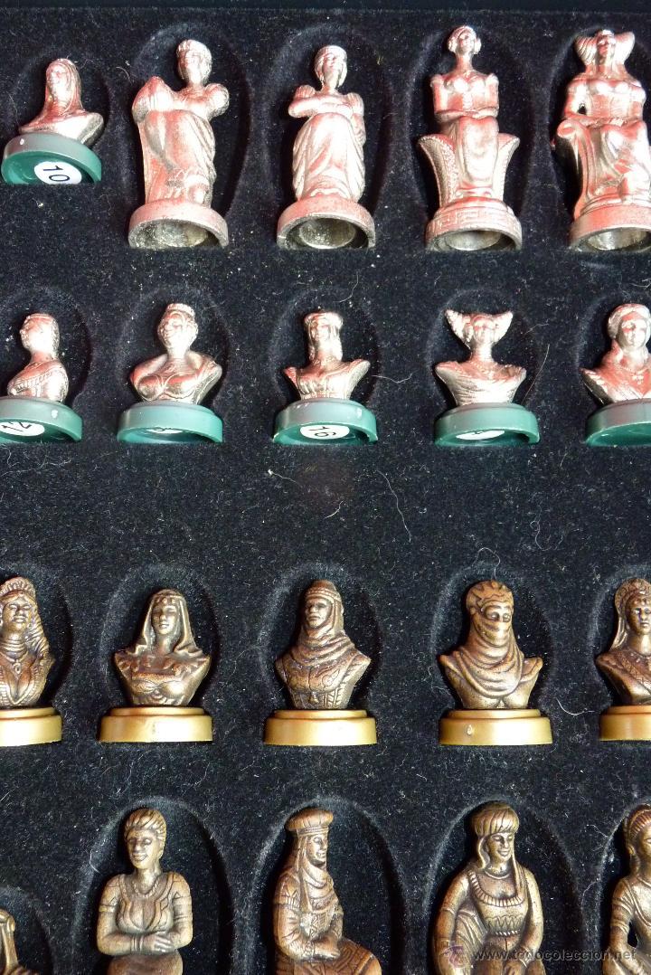 Juegos de mesa: PRECIOSO AJEDREZ FIGURAS HISTÓRICAS - Foto 6 - 42370936