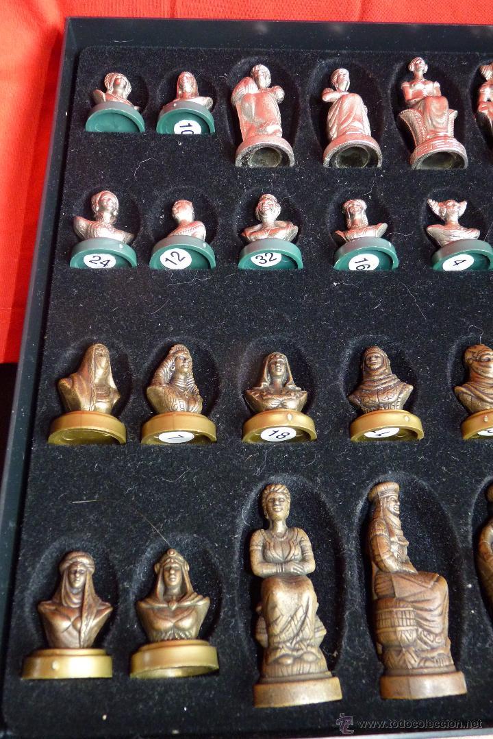 Juegos de mesa: PRECIOSO AJEDREZ FIGURAS HISTÓRICAS - Foto 7 - 42370936