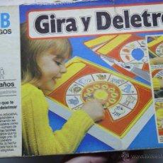 Juegos de mesa: JUEGO GIRA Y DELETREA. Lote 42507859