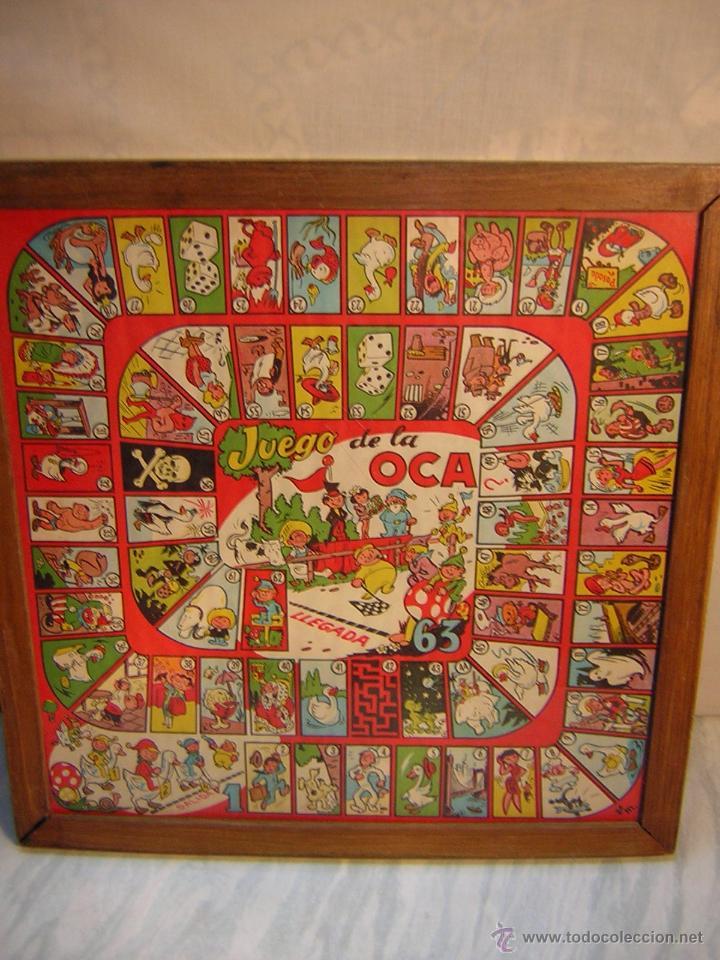 antiguo parchis y oca - enmarcado con cristal - - Comprar Juegos de mesa antiguos en ...