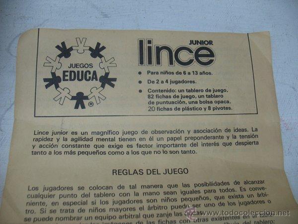 Educa Juego De Mesa Educativo Lince Junior Comprar Juegos De