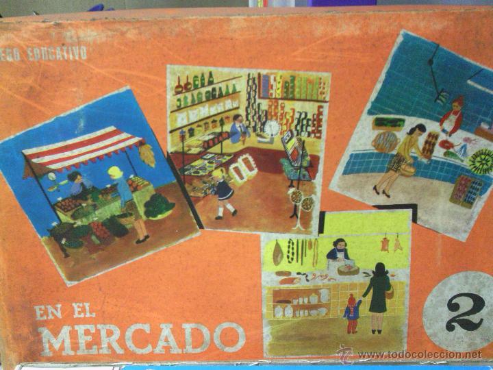 ANTIGUO JUEGO -EL MERCADO- DE APRENDIZAJE PARA NIÑOS (Juguetes - Juegos - Juegos de Mesa)