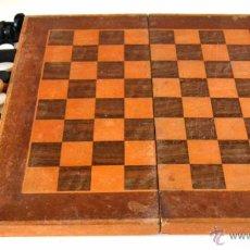 Juegos de mesa: GRAN JUEGO * TABLERO CAJA DE AJEDREZ Y DAMAS * MADERA * TARACEA * 36,2CM. Lote 43099854
