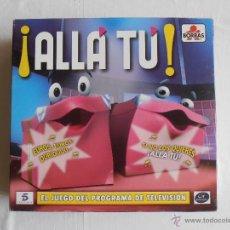 Juegos de mesa: JUEGO ALLA TU BORRAS BASADO EN EL PROGRAMA DE TV TELECINCO COMPLETO . Lote 54636009
