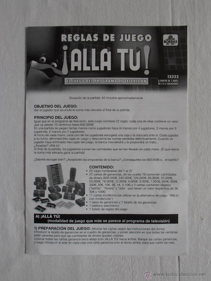 Juegos de mesa: JUEGO ALLA TU BORRAS BASADO EN EL PROGRAMA DE TV TELECINCO COMPLETO - Foto 4 - 54636009
