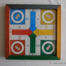 Juegos de mesa: PARCHIS Y OCA TABLERO COLORES DE MADERA. Lote 43117369