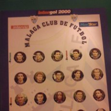 Juegos de mesa: FUTBOLIN INTERGOL. EQUIPO MALAGA CLUB DE FUTBOL. COMPLETO. Lote 43492878