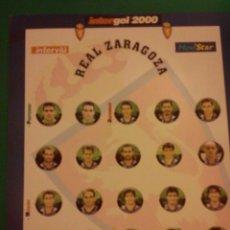 Juegos de mesa: FUTBOLIN INTERGOL. EQUIPO REAL ZARAGOZA. COMPLETO. Lote 43492914