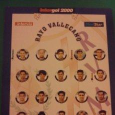 Juegos de mesa: FUTBOLIN INTERGOL. EQUIPO RAYO VALLECANO. COMPLETO. Lote 43492951