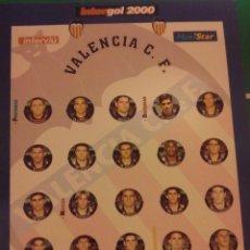 Juegos de mesa: FUTBOLIN INTERGOL. EQUIPO VALENCIA CF. COMPLETO. Lote 160005325