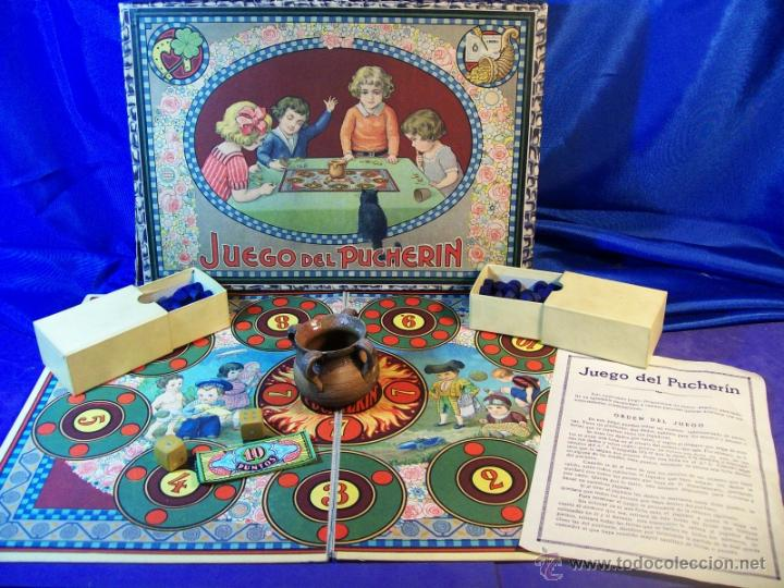 ANTIGUO JUEGO DE EL PUCHERIN ESPAÑA AÑOS 1900 APROX JUEGO DE MESA AGAPITO BORRAS (Juguetes - Juegos - Juegos de Mesa)