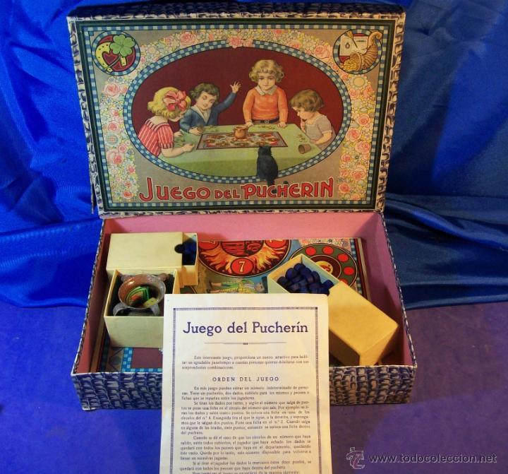 Juegos de mesa: ANTIGUO JUEGO DE EL PUCHERIN ESPAÑA AÑOS 1900 APROX JUEGO DE MESA AGAPITO BORRAS - Foto 2 - 43773459