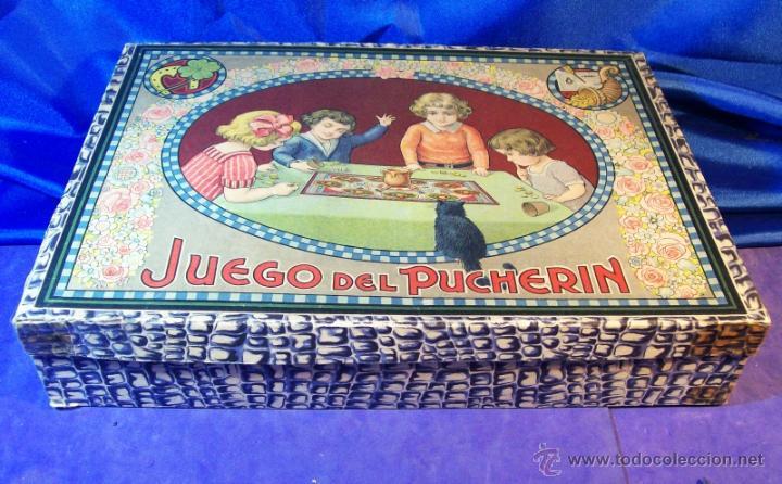 Juegos de mesa: ANTIGUO JUEGO DE EL PUCHERIN ESPAÑA AÑOS 1900 APROX JUEGO DE MESA AGAPITO BORRAS - Foto 4 - 43773459