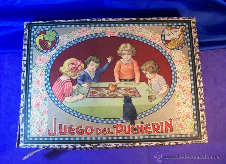 Juegos de mesa: ANTIGUO JUEGO DE EL PUCHERIN ESPAÑA AÑOS 1900 APROX JUEGO DE MESA AGAPITO BORRAS - Foto 5 - 43773459