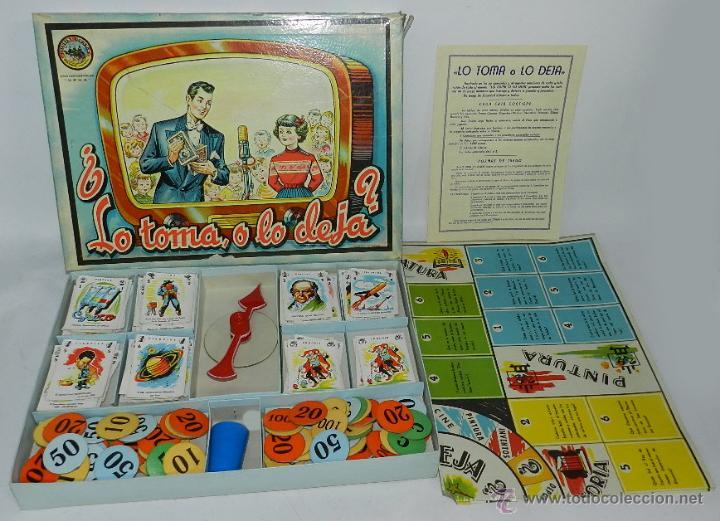 JUEGO DE MESA LO TOMA, O LO DEJA, DE JUGUETES BORRAS, TIENE TODAS SUS CARTAS Y COMODINES, CUBILETE Y (Juguetes - Juegos - Juegos de Mesa)