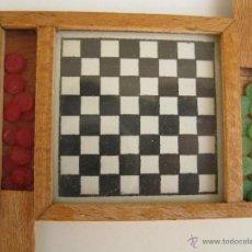 Juegos de mesa: ANTIGUO JUEGO DE LAS DAMAS EN MINIATURA.. Lote 44059106
