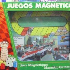 Juegos de mesa: JUEGO MAGNÉTICO CARRERA COCHES COLECCIONABLES CHICOS. Lote 44196114