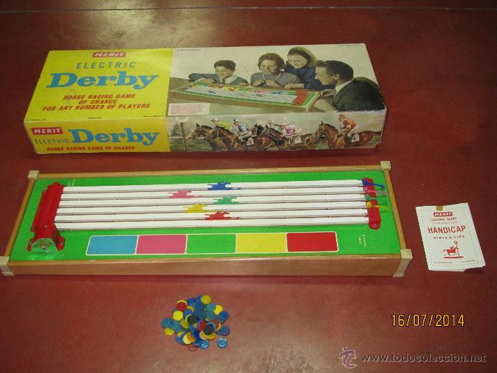 Juegos de mesa: Antiguo Juego Carreras de Caballos con Apuestas 5 Jugadores DERBY Electrico de MERIT - Año 1964 - Foto 4 - 44273370