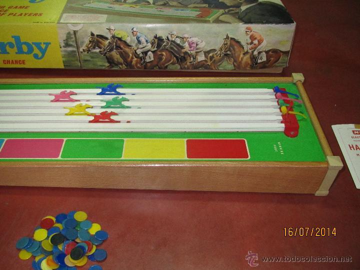 Juegos de mesa: Antiguo Juego Carreras de Caballos con Apuestas 5 Jugadores DERBY Electrico de MERIT - Año 1964 - Foto 8 - 44273370