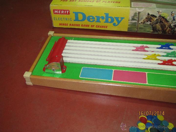 Juegos de mesa: Antiguo Juego Carreras de Caballos con Apuestas 5 Jugadores DERBY Electrico de MERIT - Año 1964 - Foto 9 - 44273370