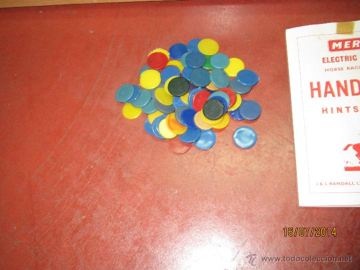 Juegos de mesa: Antiguo Juego Carreras de Caballos con Apuestas 5 Jugadores DERBY Electrico de MERIT - Año 1964 - Foto 10 - 44273370