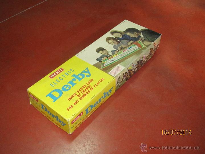 Juegos de mesa: Antiguo Juego Carreras de Caballos con Apuestas 5 Jugadores DERBY Electrico de MERIT - Año 1964 - Foto 11 - 44273370