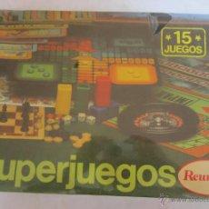 Juegos de mesa: JUEGO DE MESA. JUEGO SUPERJUEGOS REUNIDOS, 15 JUEGOS, DE CHICOS, EN CAJA. CC. Lote 44380840