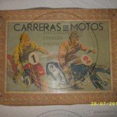 Juegos de mesa: JUEGO DE MESA ANTIGUO CARRERAS DE MOTOS. Lote 44447191