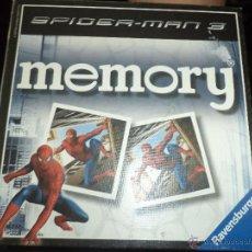 Juegos de mesa: MEMORY SPIDERMAN 3 MARVEL 2007. Lote 44674343