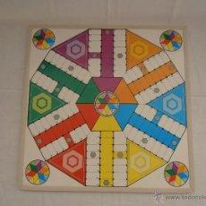 Juegos de mesa: JUEGO PARCHIS 6 JUGADORES Y OCA MADERA. Lote 45506335
