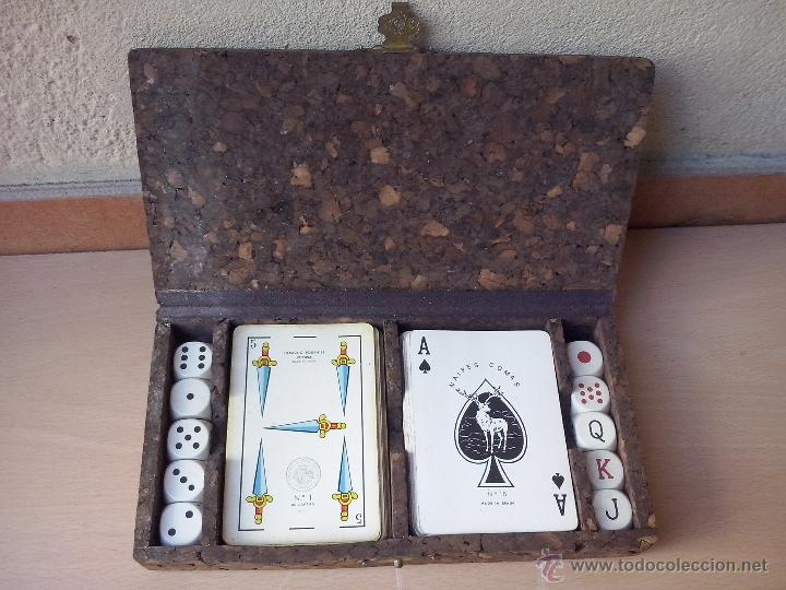 Caja Corcho Juegos Barajas Cartas Y Dados Anos Comprar Juegos De
