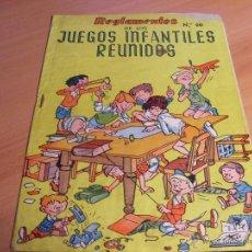 Giochi da tavolo: REGLAMENTOS JUEGOS INFANTILES REUNIDOS Nº 00. JUGUETE DE 1968 GEYPER (COIB171). Lote 45518853