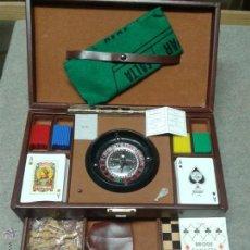 Juegos de mesa: CAJA DE JUEGOS DE MESA ANTIGUA COMPLETA. Lote 45839420