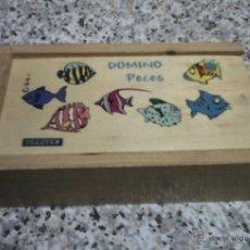 Juegos de mesa: DOMINO DE MADERA - PECES - 28 FICHAS DE MADERA.. Lote 45940078
