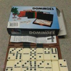 Juegos de mesa: JUEGO DE DOMINÓ EN SU ESTUCHE POLIPIEL. Lote 45955929