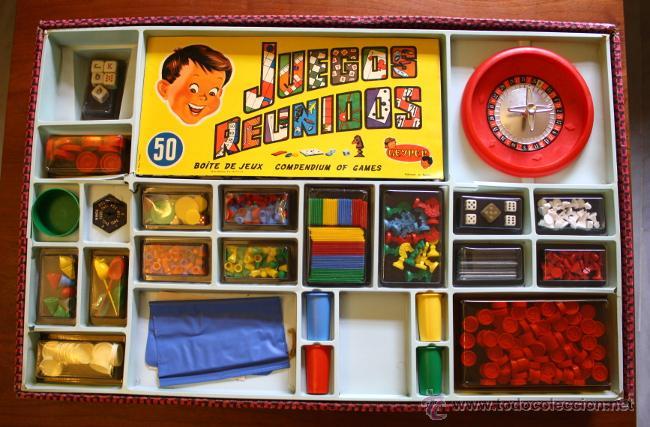 Antiguo Juegos Reunidos Geyper 50 Caja Vintage Comprar Juegos De