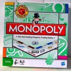 Juegos de mesa: MONOPOLY NUEVO * PLAY FASTER * 2008 * INGLES * HASBRO. Lote 46023775
