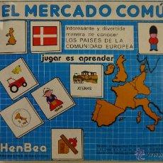 Juegos de mesa: EL MERCADO COMÚN - HENBEA - AÑOS 80. Lote 46048932