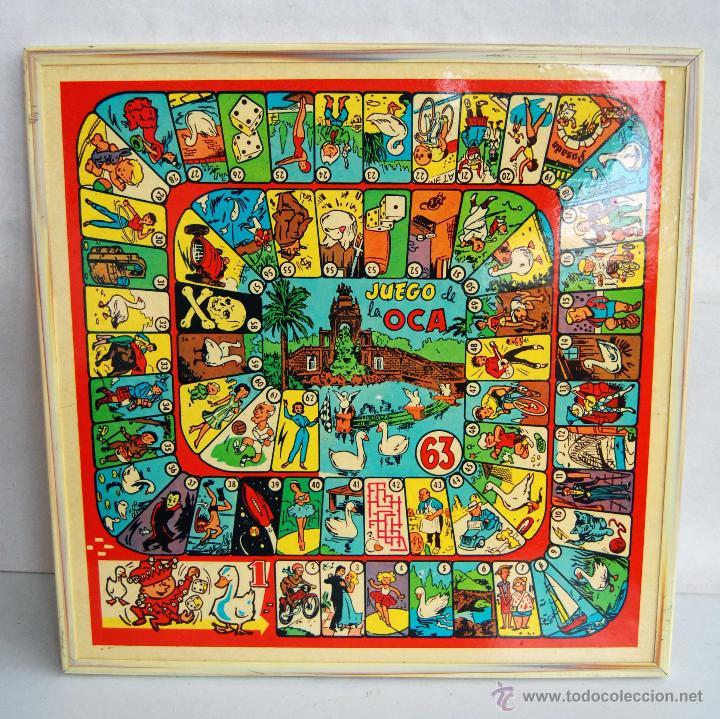 Tablero de madera del juego de la oca y de parc comprar juegos de mesa antiguos en - La oca juego de mesa ...