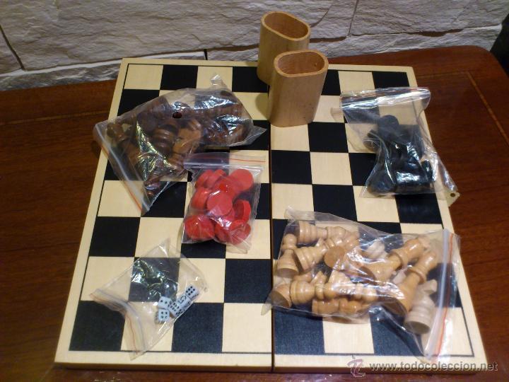 Ajedrez Damas Backgammon Todo De Madera Comprar Juegos De