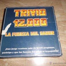 Juegos de mesa: TRIVIO 12000 LA FUERZA DEL SABER . Lote 46238506