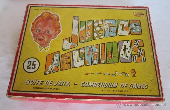 JUEGO DE MESA.JUEGOS REUNIDOS DEL 25, GEYPER, EN CAJA. DE LAS PRIMERAS EDICIONES, UNA JOYA. VV (Juguetes - Juegos - Juegos de Mesa)
