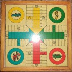Juegos de mesa: ANTIGUO PARCHIS Y JUEGO DE LA OCA CON MOTIVOS DE COCHES. VER FOTOS. Lote 46324644